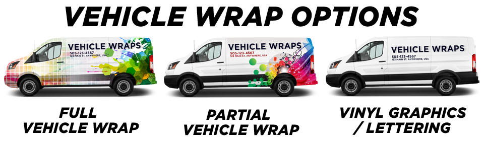 Kensington Vehicle Wraps vehicle wrap options